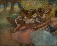 Edgar Degas. Quatro Bailarinas em Cena, 1885-1890. MASP