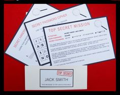 Top Secret Invitation, Password Cipher & Secret Handshake