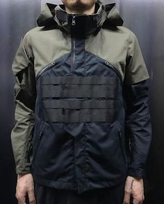 Jackets certainly are a vital part of every man's closet. Men require outdoor jackets for several functions as well as some varying weather conditions Moda Cyberpunk, Cyberpunk Fashion, Mode Costume, Moda Blog, Tactical Clothing, Tactical Wear, Streetwear, Revival Clothing, Outdoor Wear