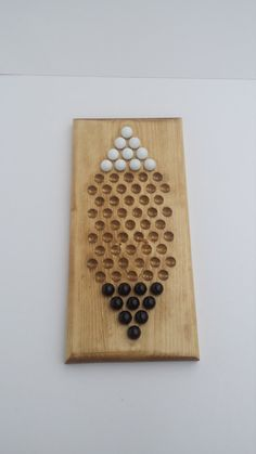 Two Player Chinese Checkers Board With Marbles Wooden Board Games, Wood Games, Game Boards, Wood Projects, Woodworking Projects, Marble Games, Diy Games, Wooden Gifts, Wood Toys