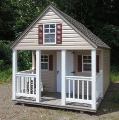 Outdoor playhouse plans with loft the wooden playhouse for Wooden playhouse with garage