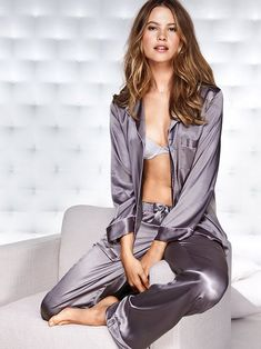The Afterhours Satin Pajama #VictoriasSecret http://www.victoriassecret.com/sale/sleepwear/the-afterhours-satin-pajama?ProductID=121389=OLS?cm_mmc=pinterest-_-product-_-x-_-x