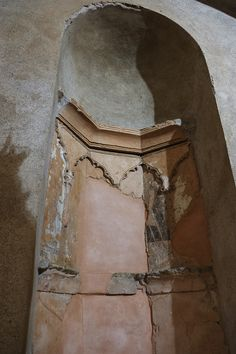 The only surviving Mihrab, a Mosque praying niche (built in cent AD) in Portugal, inside a former Mertola Mosque Mosque, Portugal, Survival, Mosques
