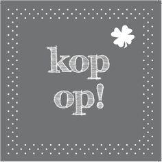 Design: Fastcards www.fastcards.nl - Kop op word snel beter