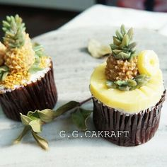 Buttercream Pineapples cupcakes!  Made by G.G.teacher…