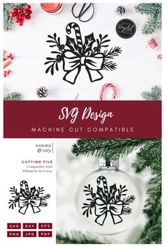 Christmas Flowers, Christmas Bows, Christmas Cards To Make, Merry Christmas And Happy New Year, Christmas Crafts, Paper Cutting, Free Printable Clip Art, How To Make Planner, Sign Sign