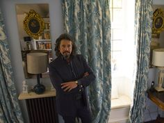 We got a little star struck when Laurence Llewelyn-Bowen asked us to print one of his designs onto our half panama, to make a set of curtains.