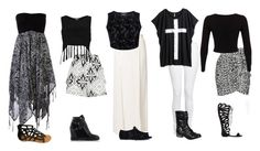 """""""5 B&W Outfits"""" by mutt81 ❤ liked on Polyvore featuring Billabong, River Island, Vero Moda, Wondaland, J Brand, H&M, Isabel Marant, Miss Selfridge, Le Silla and Qupid"""