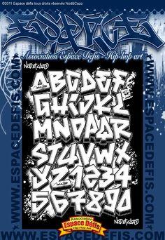 5 - Alphabet graffiti simple style - Vous avez choisi celui-ci ! participez au sondage en votant le N° 5