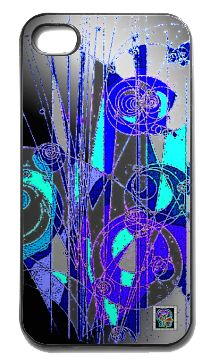 """Cern Tracks""(c) on an iPhone cover.  (c) 2013 Textiles for Thinkers, LLC.  All Rights Reserved."