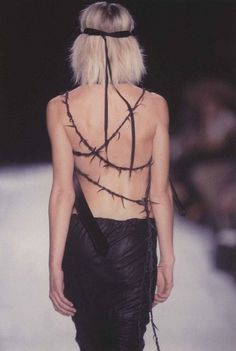 Ann Demeulemeester SS03: http://www.dazeddigital.com/fashion/article/17949/1/ann-demeulemeesters-most-subversive-moments