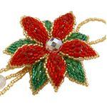 ThreadABead Poinsettia Christmas Ornament Beadwork Kit by ThreadABead