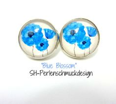 O1389 Silver coloured vintage studs from SH-Perlenschmuckdesign ¤♥¤ Fashion Jewelery and Cabochon Jewelery by DaWanda.com