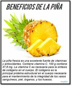 Beneficios de la piña #alimentos #comerbien #vidasana #salud
