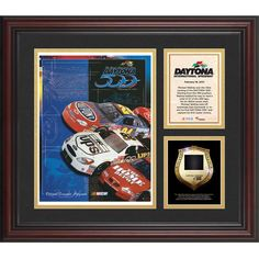 Fanatics Authentic 2001 Daytona 500 Program 3 Photograph Core Collage with Sprint Tower Banner-Limited Edition of 500 - $89.99