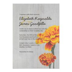 Discount DealsVintage Marigolds Wedding Invitations Custom InvitationsYes I can say you are on right site we just collected best shopping store that have