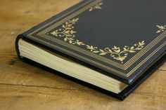 Black and Gold Elegant Wedding Guest Book - Handcrafted by Binding Bee - Ready to Ship