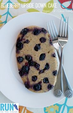 Vegan Clean Eating Blueberry Upside Down Cake