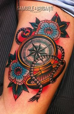 Flowers & compass