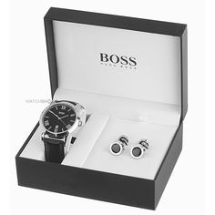 Mens Hugo Boss Cufflink Box Set Watch 210025