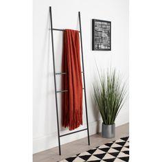 Corrigan Studio® Metal Leaner 5.5 ft Blanket Ladder & Reviews | Wayfair Blanket Rack, Blanket Ladder, Wooden Ladder, Ladder Decor, Rustic Ladder, All Modern, Modern Decor, Metal Bar, Home Decor Outlet