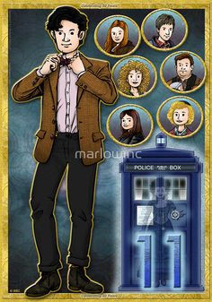 Madman with a Blue Box by marlowinc (Doctor Who) I Am The Doctor, Ninth Doctor, Doctor Who Art, Dr Who Companions, Joe Montana, Thing 1, Torchwood, Matt Smith, Blue Box