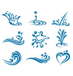 Water icons vector 679404 - by alexkava on VectorStock®