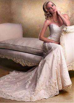 wedding dress/Etui Satin Spitze Herz-Ausschnitt Schnürrücken klassisches & zeitloses volle länge Brautkleider