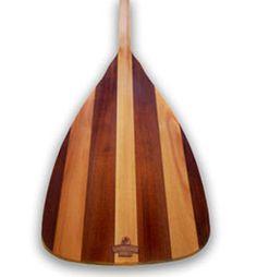WhiskeyJack Paddles Whiskey Chaser Ultralight Wood Laminate Canoe Paddle