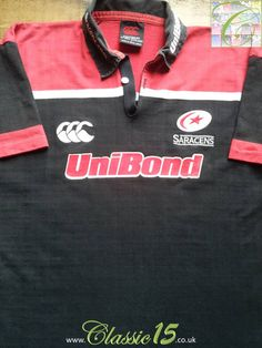 Relive Saracens' 2001/2002 season with this vintage Canterbury home rugby shirt.