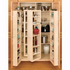Buy the Rev-A-Shelf Natural Direct. Shop for the Rev-A-Shelf Natural Series Tall Swing Out Pantry Cabinet Organizer Set with Hardware and save. Door Storage, Kitchen Storage, Locker Storage, Kitchen Organizers, Cabinet Organizers, Plate Organizer, Art Storage, Tall Pantry Cabinet, Pantry Cabinets