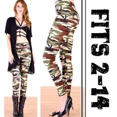 SUPER STRETCHY CAMO LEGGINGS! FITS 2-14! Terrific, micro fiber polyester and spandex fabric that is super soft and stretchy! Made in USA Fits sizes 2-14! PLEASE DO NOT BUY THIS LISTING, I will personalize one for you. tla2 Pants Leggings