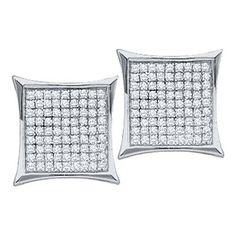 1/2CTW-Diamond MICRO-PAVE EARRINGS