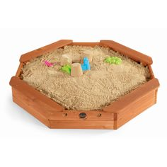 The Treasure Beach Sandbox is the perfect place for burying the loot or digging for gold! This octagonal shaped wooden sandbox will inspire imaginativ. Wooden Sandbox, Kids Sandbox, Water Toys, Water Play, Sand Pits For Kids, Treasure Beach, Water Tables, Shade Canopy, Play Table