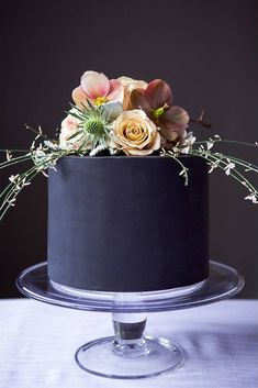 black and whitewedding cakes small black cakecolor flowers alicebroadway cakedesign