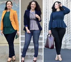 Fashion and Shopping Mistakes most Plus Size Women do and Some Tips to Share to Shop for a Perfect Fit Plus Size Outfits! Curvy Girl Fashion, Fashion Mode, Plus Size Fashion, Latest Fashion, Trajes Business Casual, Business Casual Outfits, Look Plus Size, Plus Size Women, Mode Style