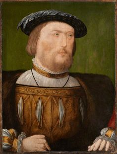 A rather unflattering portrait of King Henry VIII, fitting IMO. By an Unknown Anglo-Netherlandish artist, 1535-40. National Portrait Gallery, UK.