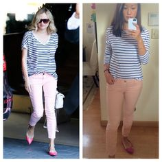 Inspired by Diane Kruger. Top from Zara, jeans from Banana Republic, shoes from Coach.