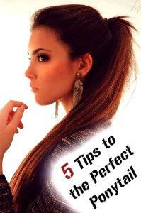 5 Tips to the Perfect Ponytail. May need this when I grow my hair back out.