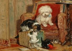 Kittens     at     Play                19th  c.              Henriëtte    RONNER  -  KNIP Dutch,             oil     on     canvas