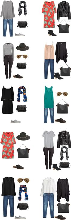 What to Wear in London Paris and Germany Outfit Options 1-10 #travellight…
