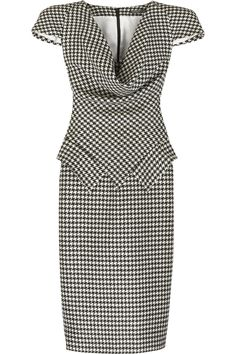 Alexander McQueen | Houndstooth pencil dress | NET-A-PORTER.COM