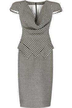 Alexander McQueen Houndstooth pencil dress NET-A-PORTER.COM