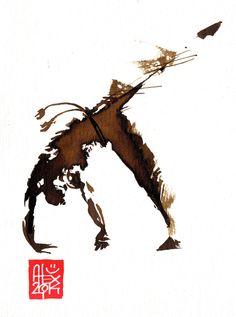 Illustration : Capoeira – 712 [ #capoeira #watercolor #illustration]