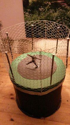 Sinterklaas surprise trampoline met grabbelton eronder