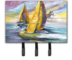 Sailboat with Middle Bay Lighthouse Leash or Key Holder JMK1061TH68