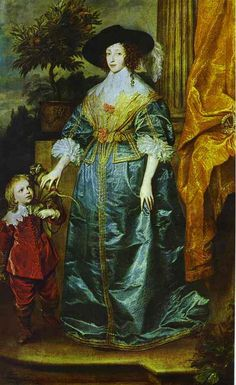Queen Henrietta Maria with Sir Jeffrey Hudson by Anthony van Dyck, 1633