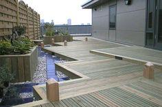 Sichtschutz für Terrassen – coole und herrliche Bilder von Terrassen Designs - Sichtschutz für Terrassen  beige auflage grau gefäß zaun