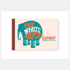 Elephant Record Book from Record Book Prints by graphic designer and artist Christophe Gowans, $36, now featured on Fab.