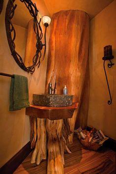Tree Stumps Logs Log Cabins Dream Hous Small Bathrooms Bathroom